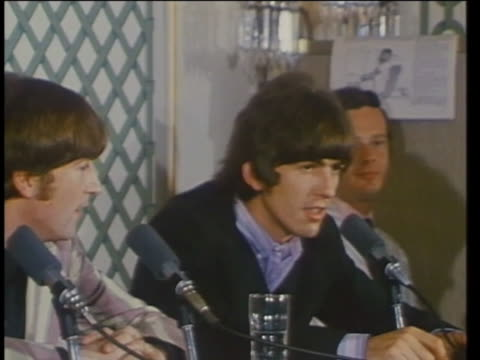 the beatles' george harrison gives an interview about playing the sitar in 1966. - george harrison stock videos & royalty-free footage