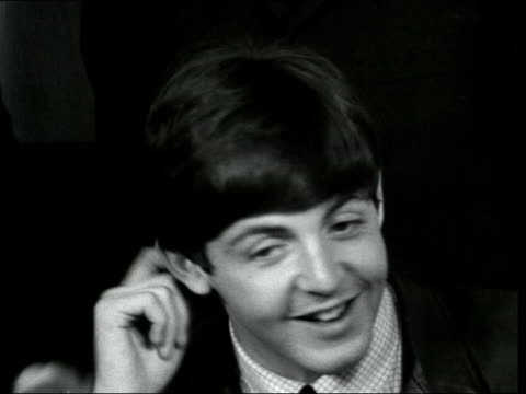 the beatles interview ahead of royal variety performance; england: london: int the beatles interview sof - re royal variety performance, language,... - the beatles stock videos & royalty-free footage