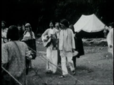 the beatles meeting with the maharishi mahesh yogi / india - maharishi mahesh yogi stock videos & royalty-free footage
