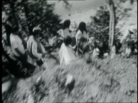the beatles walking with maharishi mahesh yogi / india - maharishi mahesh yogi stock videos & royalty-free footage