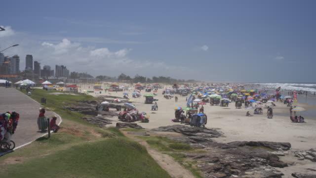 the beautiful beaches of torres, southern brazil - stato di rio grande do sul video stock e b–roll