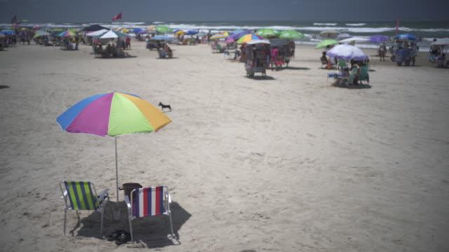 the beautiful beaches of torres, southern brazil - リオグランデドスル州点の映像素材/bロール