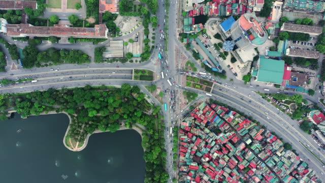 ハノイの美しい街 - 真俯瞰点の映像素材/bロール