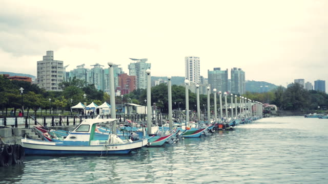 The beautiful landscape in Tamsui wharf, Taiwan, China