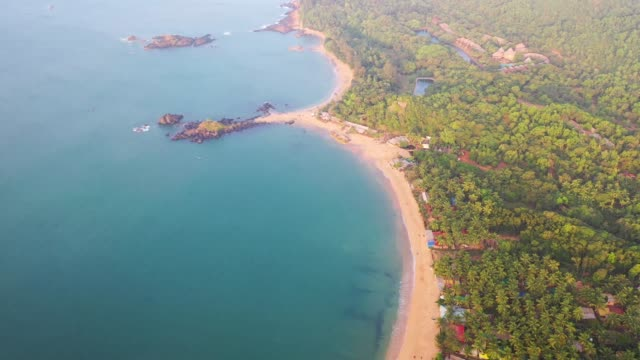the beautiful om beach in karnataka, india - coastline stock videos & royalty-free footage