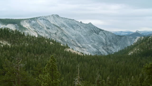 the beautiful panoramic view to the remote mountain's peaks from the tioga pass road in yosemite national park - californian sierra nevada stock videos & royalty-free footage