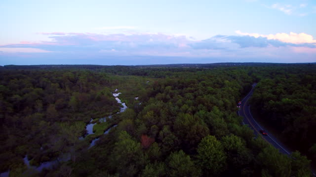 The beautiful river near by long pond Road, Poconos, Pennsylvania, USA