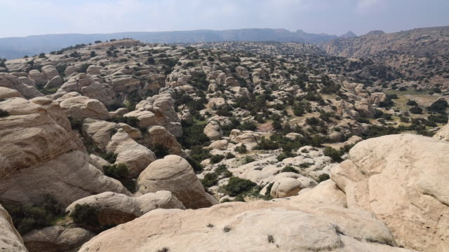 The beautiful rock formations in the Dana nature biosphere of the Jordan country.