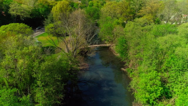 The beautiful scenic aerial video of the Bronx River Park in Bronxville, Westchester County, New York.