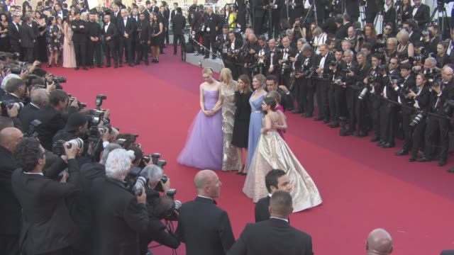 clean 'the beguiled' official screening red carpet at grand theatre lumiere on may 24 2017 in cannes france - nicole kidman stock videos & royalty-free footage