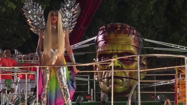 The Beija Flor school which used its floats and costumes in Rio's samba parades to highlight various social issues in Brazil including a corruption...