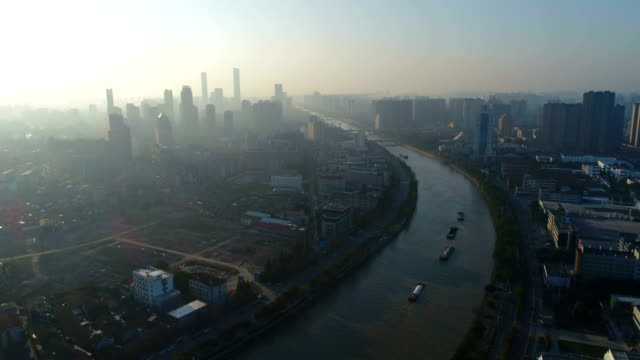 The beijing-hangzhou grand canal in wuxi section of the city