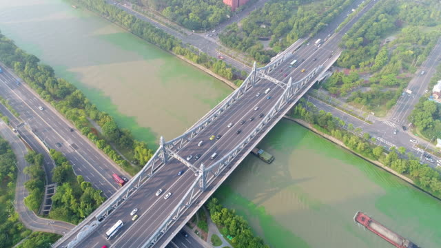 the beijing-hangzhou grand canal is a city of wuxi, - wuxi stock videos and b-roll footage