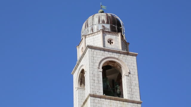The bell tower in the old city of Dubrovnik