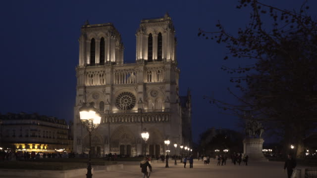 The bells of Cathédrale Notre-Dame de Paris in winter.