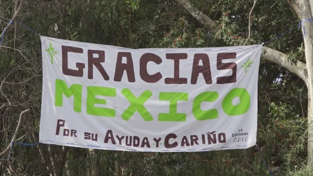 the benito juarez sports complex in tijuana mexico is being used as an emergency shelter to house hundreds of the 'migrant caravan' from central... - baja california norte stock videos & royalty-free footage