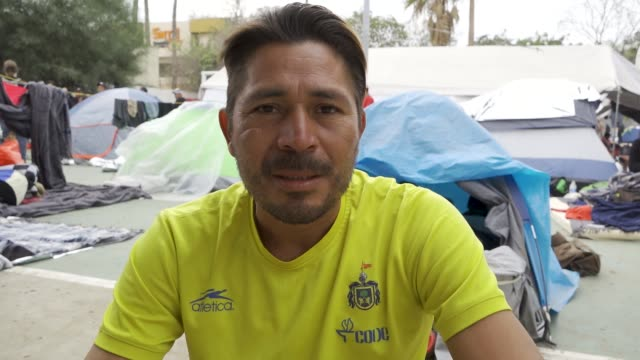 The Benito Juarez sports complex in Tijuana Mexico is being used as an emergency shelter to house thousands of Central Americans the majority from...