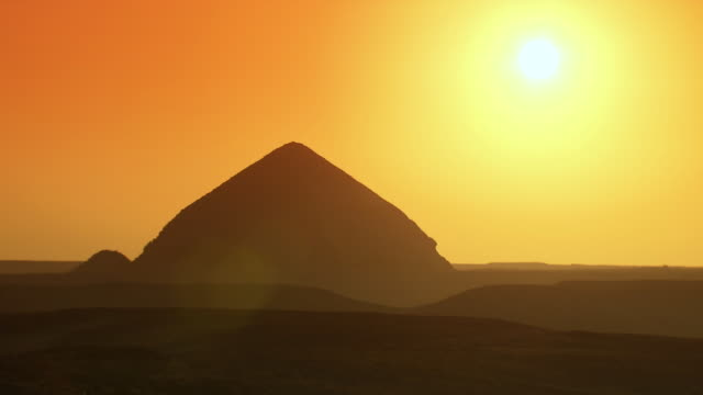 WS The Bent pyramid at sunset / Egypt