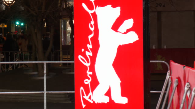 the berlinale bear logo outside at the zoo palast during the 70th berlinale international film festival berlin on february 21 2020 in berlin germany - film festival stock videos & royalty-free footage