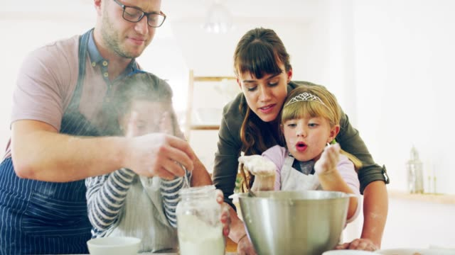 the best family memories are home baked - messy stock videos & royalty-free footage