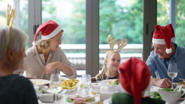 the best family memories are made at christmas - dinner party stock videos & royalty-free footage