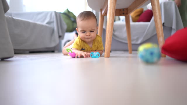 the best part of day is crawling on floor - one baby boy only stock videos & royalty-free footage
