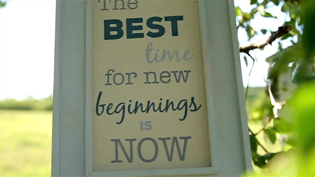 the best time for new beginnings is now! - hope concept stock videos and b-roll footage