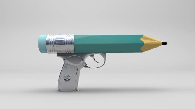 最高の武器は教育です - 消しゴム点の映像素材/bロール