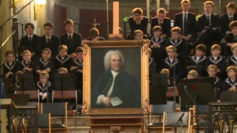 the best-known portrait of german composer johann sebastian bach was welcomed back in his home city in an emotional ceremony friday after an odyssey... - johann sebastian bach stock videos & royalty-free footage