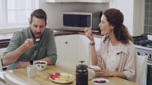 the better the breakfast the better the day - wife stock videos & royalty-free footage