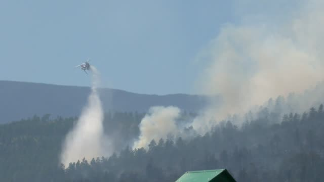 the beulah hills wildfire near pueblo colorado split in two different directions after erupting and being pushed by high winds - pueblo colorado stock videos & royalty-free footage