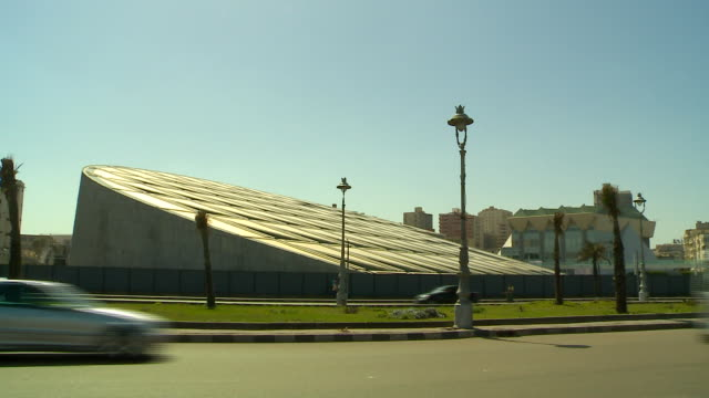 the bibliotheca alexandrina in alexandria, egypt on july 23, 2018. - archives stock videos & royalty-free footage