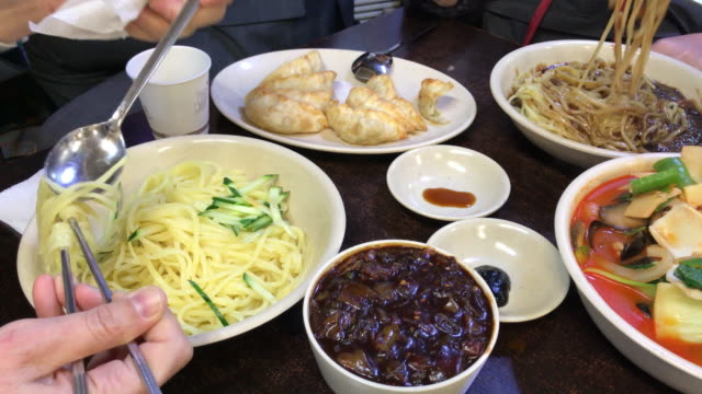 The big meal with Jajangmyeon , Seoul , South Korea.