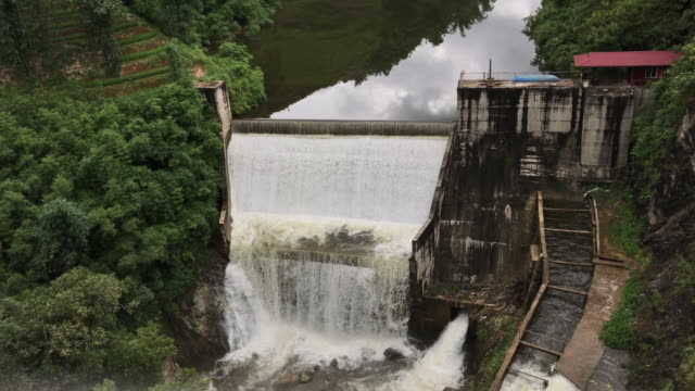 the big water dam in sa pa village - sa pa stock videos and b-roll footage