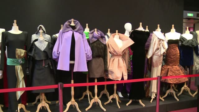 the biggest ever private collection of haute-couture and ready to wear fashion is auctioned off in paris including yves saint laurents scandalously... - black dress stock videos & royalty-free footage