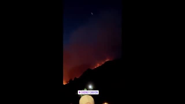 stockvideo's en b-roll-footage met the bighorn fire continued to burn in sabino canyon, arizona, on friday, june 19, as this footage shows, and by saturday morning had scorched 42,798... - https