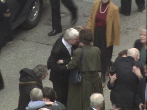 the 'birmingham six' hug their families outside the old bailey having had their convictions for carrying out the birmingham bombings overturned and... - 無罪点の映像素材/bロール