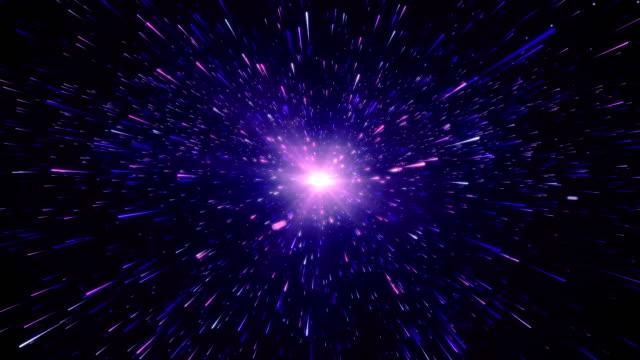 vídeos de stock, filmes e b-roll de o nascimento do universo no espaço, um vídeo de ações big bang - criação