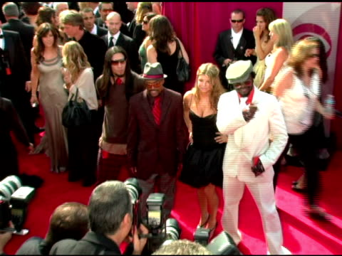 the black eyed peas at the 2005 emmy awards at the shrine auditorium in los angeles california on september 18 2005 - the black eyed peas band stock videos and b-roll footage