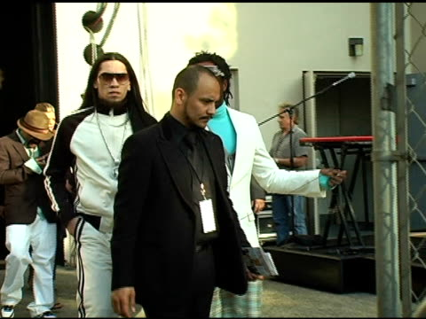 the black eyed peas backstage after performance at the 20th annual soul train music awards at pasadena civic auditorium in pasadena california on... - the black eyed peas band stock videos and b-roll footage