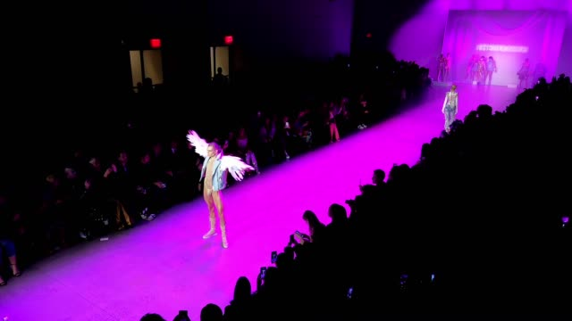 the blonds runway february 2020 new york fashion week timelapse at gallery i at spring studios on february 09 2020 in new york city - week stock videos & royalty-free footage