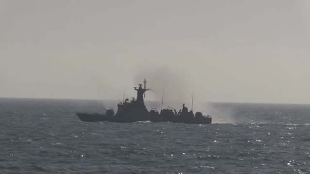 "the ""blue homeland 2019"", turkey's largest naval drill continues on its third day off the coast of northwestern kocaeli province on march 01, 2019.... - vessel part stock videos & royalty-free footage"