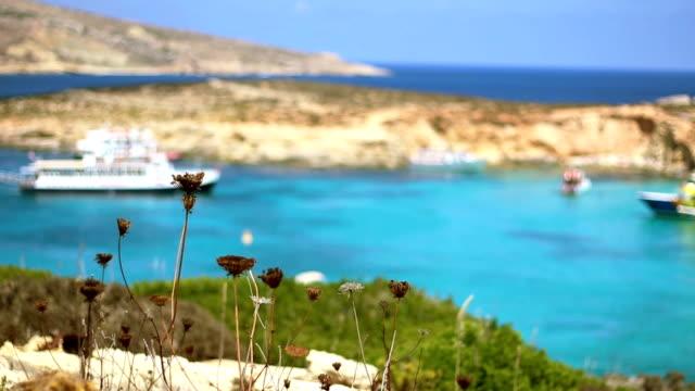 Il Blue Lagoon bay sull'isola di Comino. Malta