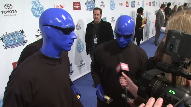 The Blue Man Group at the Night of Too Many Stars An Overbooked Concert For Autism Education at the Beacon Theater in New York New York on April 13...