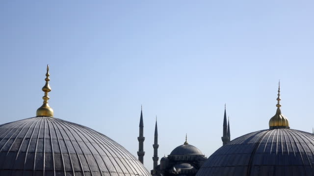 The Blue Mosque from the rooftop of the Hagia Sophia