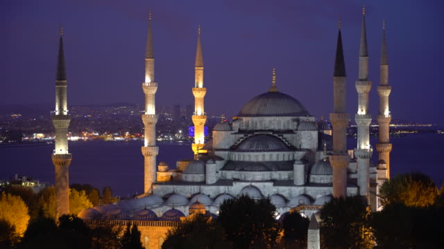 the blue mosque istanbul, turkey. sultanahmet camii. - blue mosque stock videos and b-roll footage