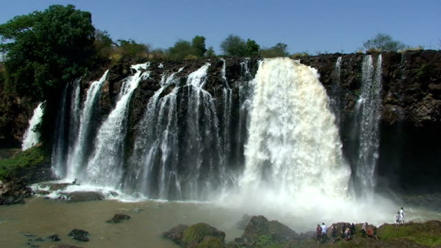 the blue nile waterfalls in ethiopia - ethiopia stock videos and b-roll footage