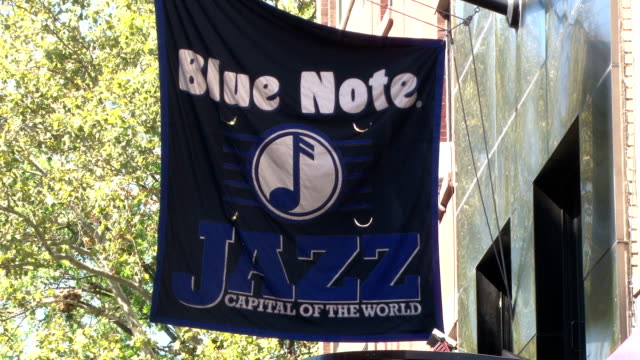 the blue note jazz club exterior - greenwich village nyc - jazz stock videos & royalty-free footage