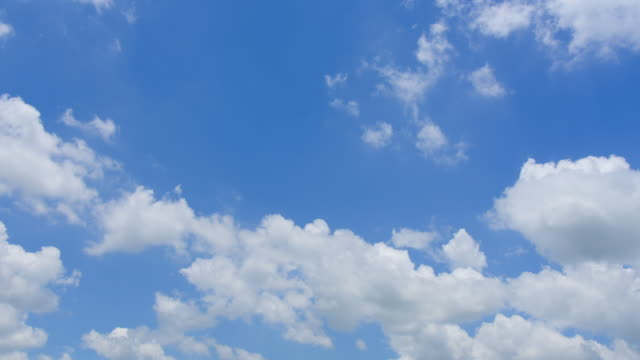 the blue sky with white clouds - cumulus cloud stock videos & royalty-free footage