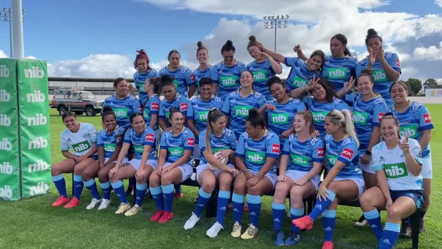 the blues women's squad pose for a team photo at blues hq on april 30, 2021 in auckland, new zealand. - team photo stock videos & royalty-free footage
